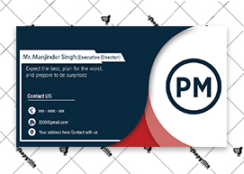 Grey Red Business Card